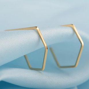 Fashion temperament geometric hollow metal earrings green copper earrings NHDP178238's discount tags