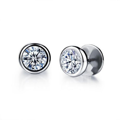Gros mode rétro tempérament élégant rond avec zircon cent boucles d'oreilles assorties non décoloré caractéristiques bijoux NHOP178142's discount tags