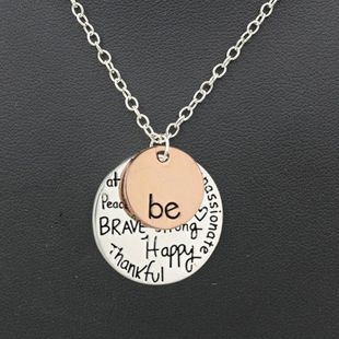 Alloy Letter Necklace Two-Tone  NHDP178226's discount tags
