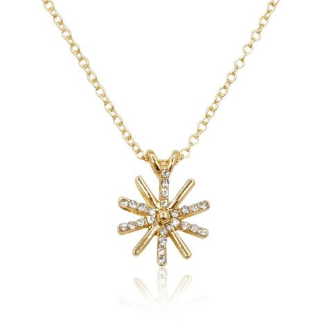 Fashion Diamond Sun Flower Necklace Jewelry Chain Accessories Wholesale NHDP178243's discount tags