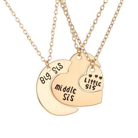 Collier lettre d'amour trois pièces grand, moyen et petit collier pendentif coeur lune NHDP178254's discount tags