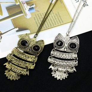 Fashion jewelry wholesale retro owl pendant ladies necklace NHDP178273's discount tags