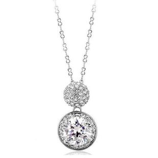 Micro-inlaid zircon diamond drill pendant clavicle chain adjustable necklace female models wholesale NHLJ178012's discount tags