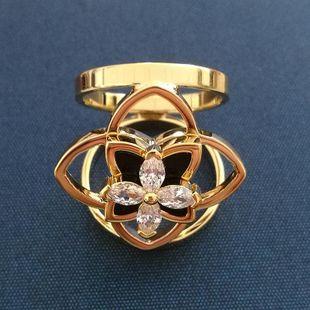 Korean fashion high-grade gold-plated micro-inlaid zircon flower silk scarf buckle NHLJ177995's discount tags