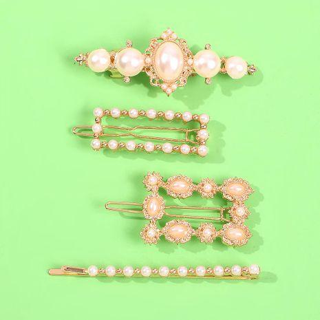 Jewelled headband  Diamond pearl hairpin fashion clip hair accessories wholesale fashion NHMD178339's discount tags