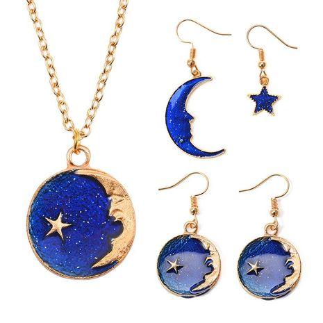Blue star earrings long asymmetric earrings wholesale fashion NHDP178230's discount tags