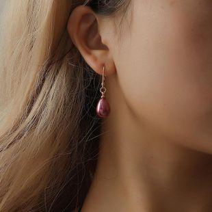 Nuevos aretes para mujer multicolores creativos pendientes de temperamento dulce de moda elegantes pendientes de perlas femeninas al por mayor de moda NHDP178231's discount tags