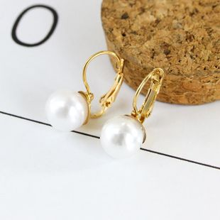 Fashion simple pearl earrings female pearl inlaid jewelry wholesale NHDP178232's discount tags