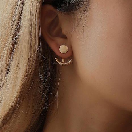 Earrings sleek minimalist sun moon stud earrings sweet plated alloy back hung earrings wholesale fashion NHDP178251's discount tags