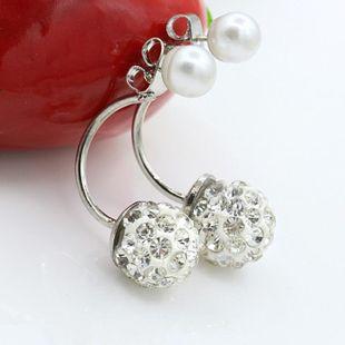 Full Diamond Pearl Ball Stud Earrings Hanging Xiangbala Ball Bridal Earrings Wholesale NHDP178252's discount tags