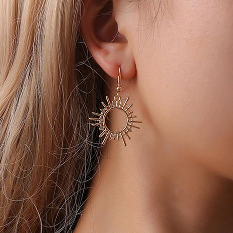 Gear earrings creative geometric alloy jewelry female sun earrings wholesale NHDP178258's discount tags