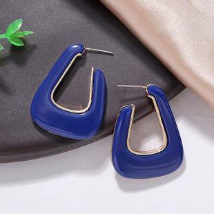 Aretes para mujer de resina de aleación de moda pendientes de personalidad simple joyería Jiaqi al por mayor NHJQ178330's discount tags