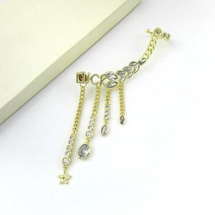 Aretes S925 Aguja de plata esterlina Vintage Retro Ojo de caballo Pendientes de diamantes Pendientes Fringe Wings Clips de oreja Mujer NHLJ177994's discount tags