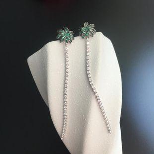 Pendientes de coco Lady Lady Pendientes largos S925 Silver Needle Creative Fringe Earrings al por mayor NHWK178213's discount tags