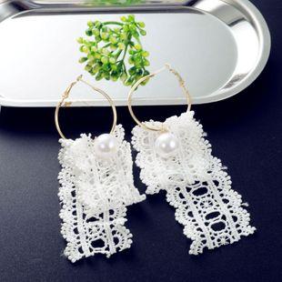 Korean lace earrings NHIM178066's discount tags