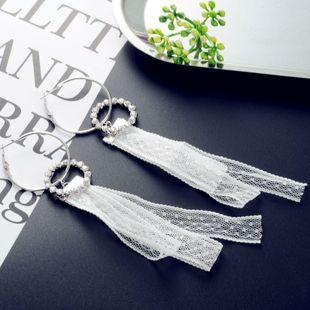 Korean lace earrings NHIM178068's discount tags