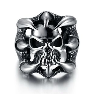 Death Squad 3 Stallone with Domineering Men's Ring Genuine Titanium Steel Eagle Claw Taro Personality Men's Ring NHIM178035's discount tags