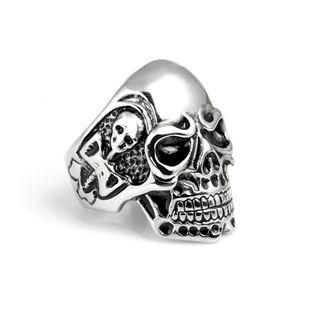 Domineering men's ring genuine titanium steel skull personality men's ring NHIM178036's discount tags