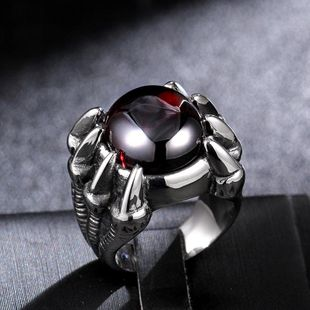 European and American punk gothic rock personality fashion titanium steel casting men's ring tide male ring NHIM178037's discount tags