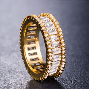 Multi-layer full circle full of diamonds drilled in Europe and America South Korea shiny diamond inlaid analog diamond ring NHIM178057's discount tags