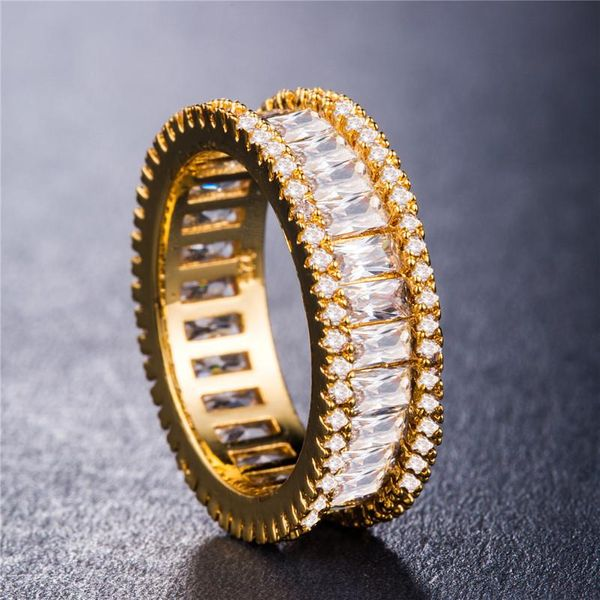 Multi-layer full circle full of diamonds drilled in Europe and America South Korea shiny diamond inlaid analog diamond ring NHIM178057