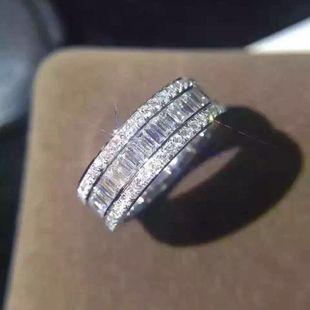 Multi-layer full circle full of diamonds drilled in Europe and America South Korea shiny diamond inlaid analog diamond ring NHIM178059's discount tags
