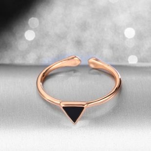 Ins Korean version 925 geometric triangle adjustable opening ring one generation NHIM178063's discount tags
