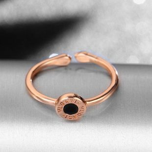 Ins Korean version 925 Roman numeral adjustable opening ring for a generation NHIM178064's discount tags