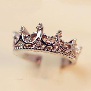 Korean version of the diamond crown ring spread the supply of personalized fashion ring NHIM178069's discount tags