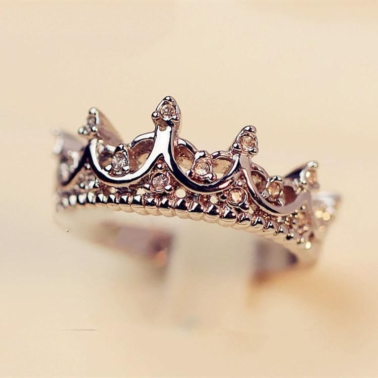 Korean version of the diamond crown ring spread the supply of personalized fashion ring NHIM178069