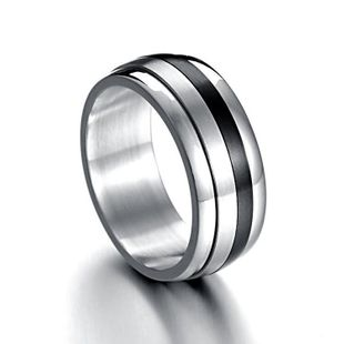 3165 titanium steel 10mm four combination outer arc two-color rotating ring NHIM178072's discount tags