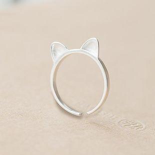 Animal lindo gato gato oreja anillo hembra apertura ajustable creativo dulce anillo al por mayor NHCU178305's discount tags