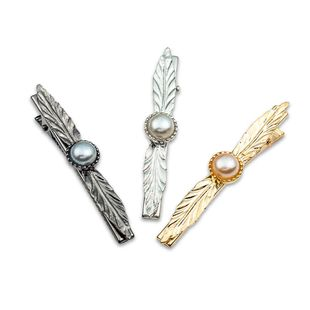 Alloy leaf hair clip European and American fashion pearl leaf hair accessories NHDP178281's discount tags