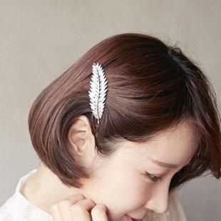 Vintage feather leaf leaf coniferous edge clip spring clip NHDP178284's discount tags
