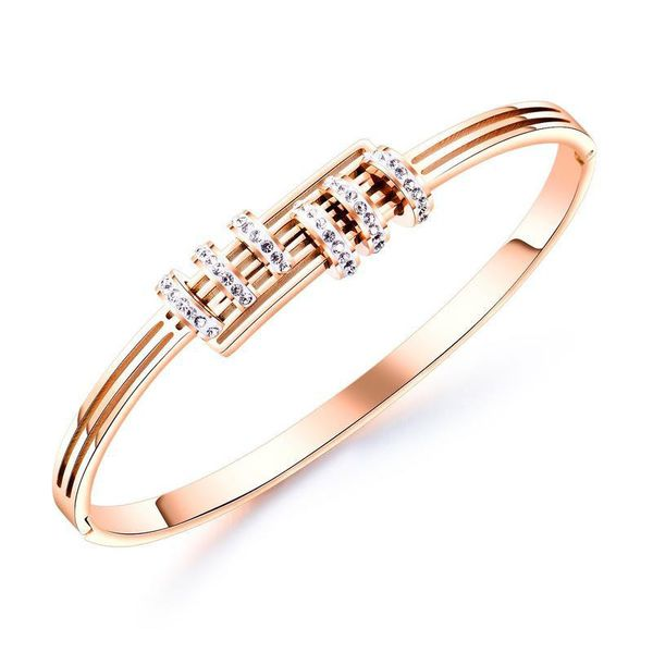Rose gold-plated bracelet titanium steel gold-plated bracelet temperament diamond jewelry NHOP178175