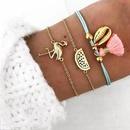Wholesale Trend Simple Shell Watermelon Flamingo ThreePiece Bracelet Fashion Jewelry Set NHDP178288