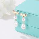 Wholesale Fashion Pearl earrings creative word retro tassel earrings temperament water drops shaped pearl earrings earrings NHDP178255
