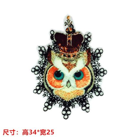 Women's large crown owl hot map heat transfer heat transfer DIY clothing accessories cloth stickers NHLT178417's discount tags