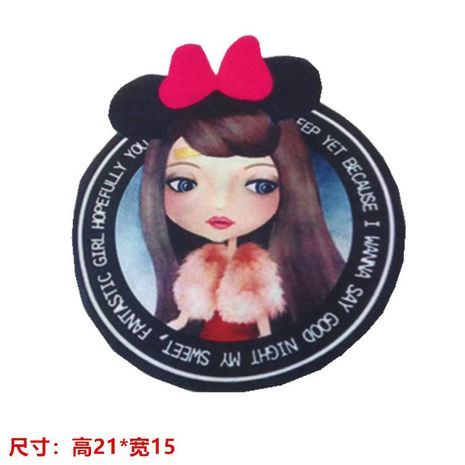 Bow female clothing accessories heat transfer hot map hot map bow small cute female DIY cloth stickers NHLT178415's discount tags