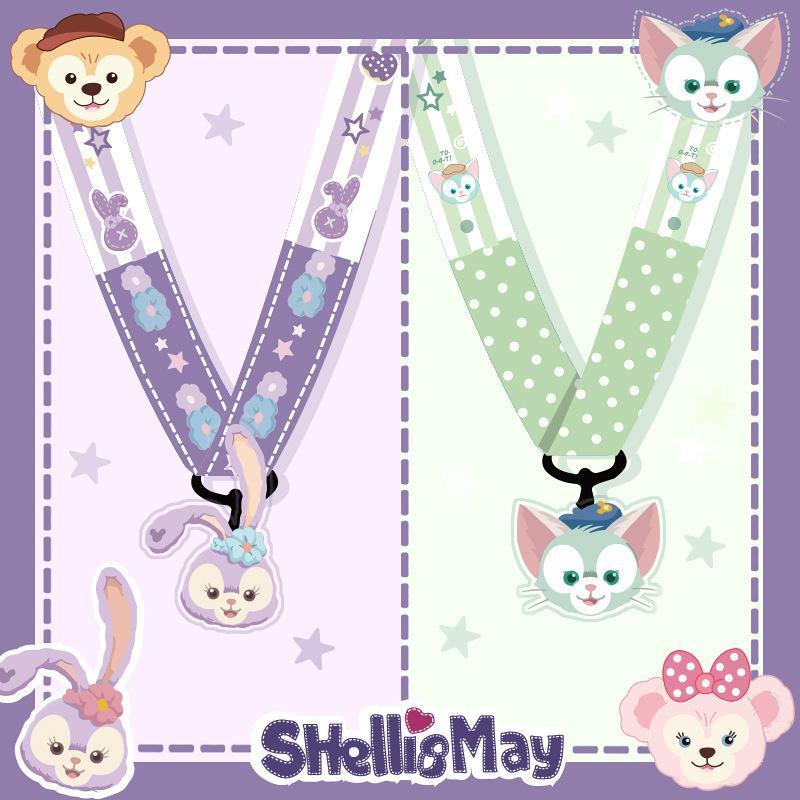 Duffy Bear mobile phone lanyard fabric widened hanging neck long rope lanyard NHJP178394