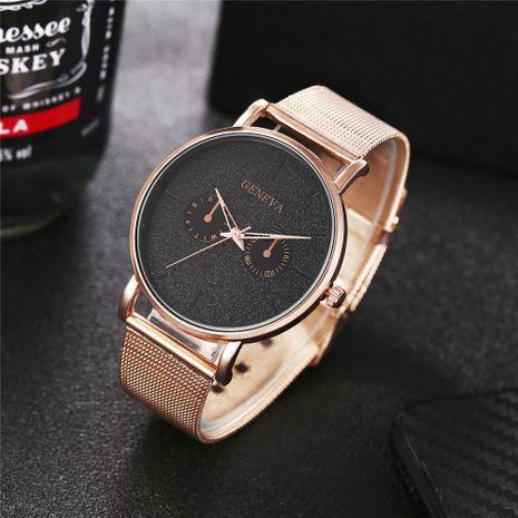 New geneva men's fake double-eye color pointer alloy mesh belt quartz watch wholesales fashion  NHHK178343's discount tags