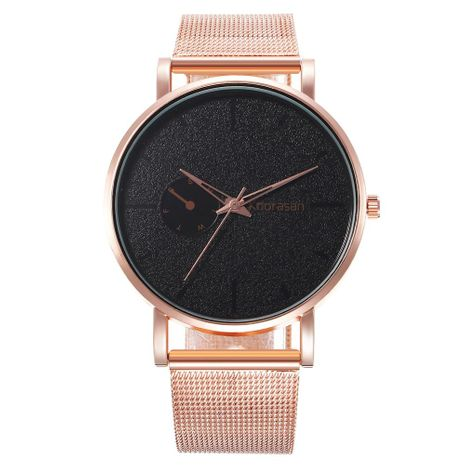 New men's fake single eye color pointer alloy mesh belt male quartz watch NHHK178344's discount tags