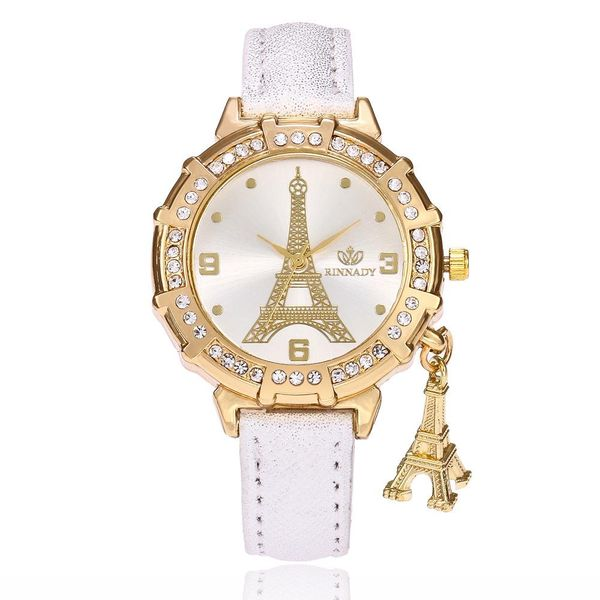Quartz watch fashion creative tower pendant ladies watch rhinestone belt watch female models wholesales fashion NHSY178367