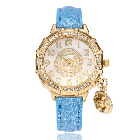 Individual diamond-studded women's watch fine strap with diamonds gold quartz fashion watch wholesale NHSY178366's discount tags