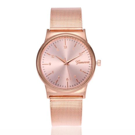 Men's and women's mesh belt watch fashion rose gold Geneva quartz watch wholesales fashion NHSY178370's discount tags