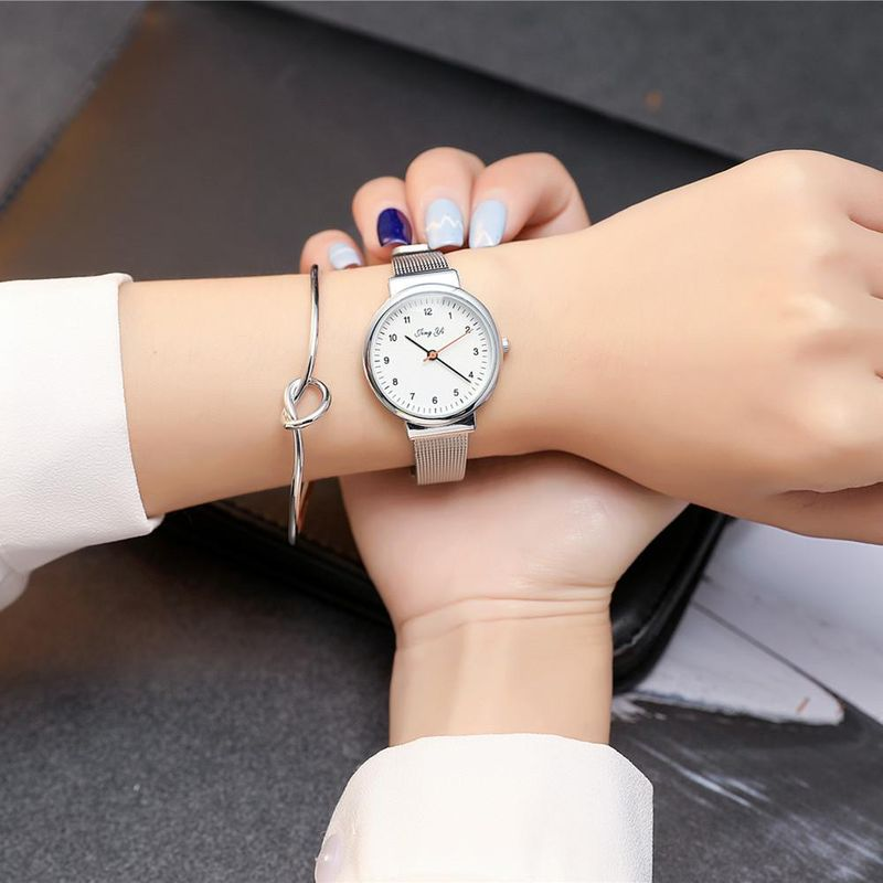 Watch female student fashion fine mesh with small dial quartz female watch NHSY178374
