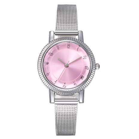 New watch ladies fashion digital scale colorful silver mesh with prismatic glass quartz watch wholesales fashion  NHHK178349's discount tags