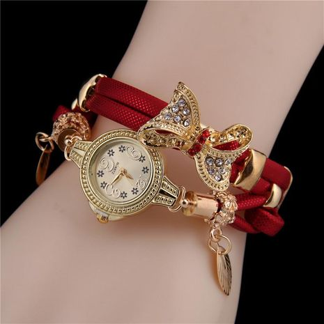Fashion ladies bracelet watch bow bracelet watch female models wholesales fashion NHHK178357's discount tags