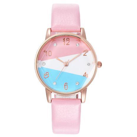 New ladies tri-color dial prismatic glass watch quartz watch belt watch female models wholesales fashion NHHK178359's discount tags