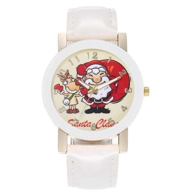 New Santa Claus Elk Series Scale Belt Watch Men and women Couples Wrist Watch Wholesale NHHK178358